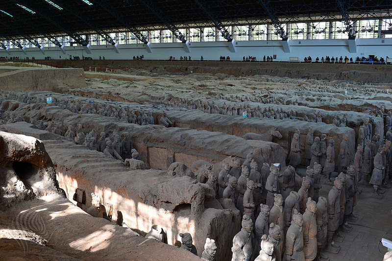 【旅遊】陝西自由行。西安必訪《秦始皇兵馬俑博物館:一號坑》世界文化遺產帝王陵寢