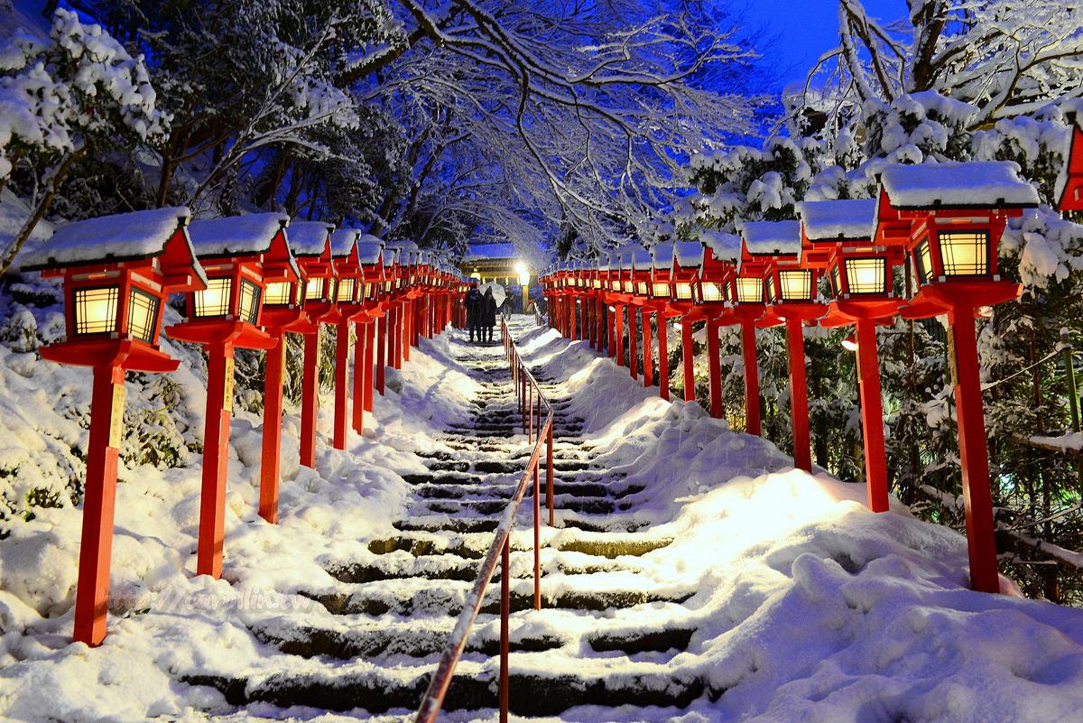 京都自由行 旅遊景點|鞍馬線《貴船神社》神社點燈 冬季賞雪 絕景推薦 附交通資訊