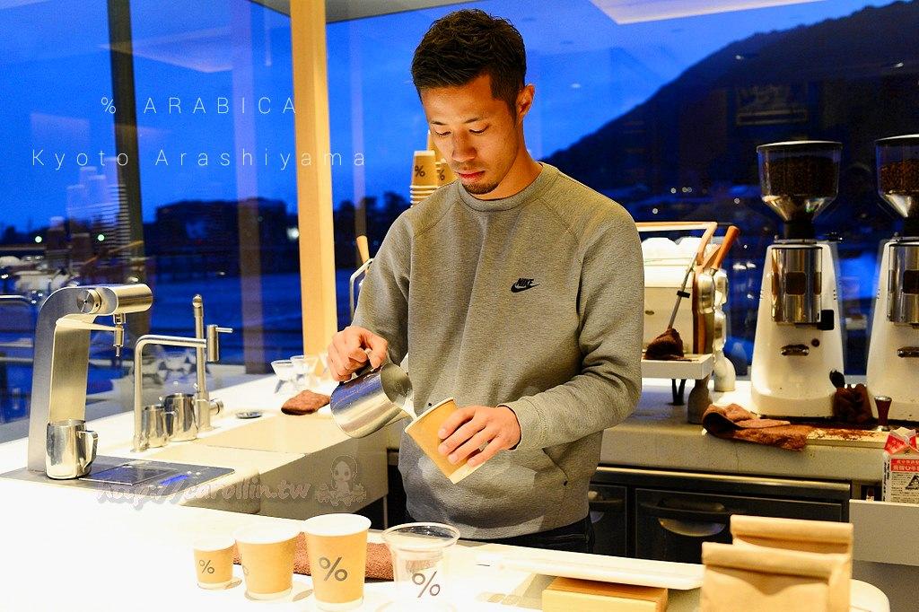 京都自由行 美食|嵯峨嵐山《% ARABICA Kyoto Arashiyama》渡月橋咖啡 旅遊景點 拉花帥哥景觀
