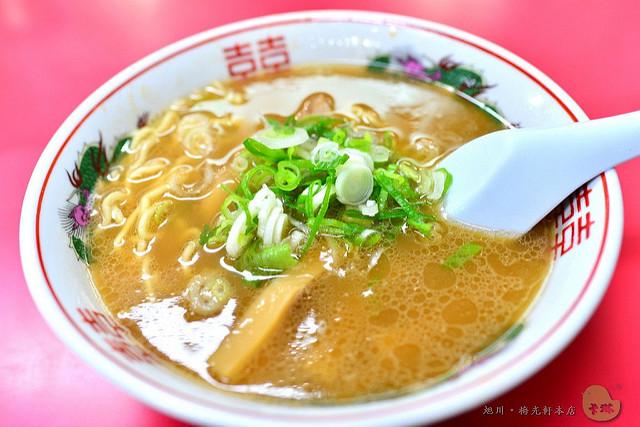 【美食】北海道自由行。旭川《梅光軒 本店》人氣醬油拉麵老店