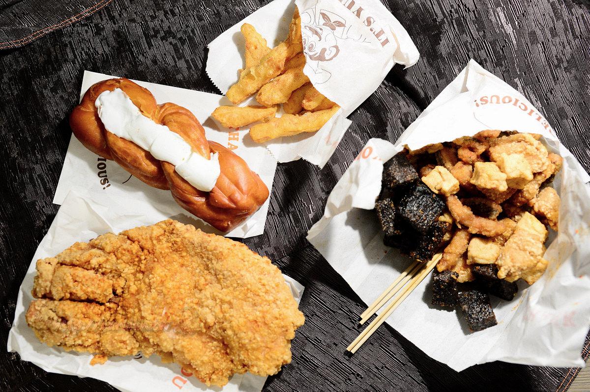 台中美食|西屯區《咕雞咕雞》脆皮雞排 鹽酥雞 牽絲棉花糖銀絲卷 好吃的宵夜推薦