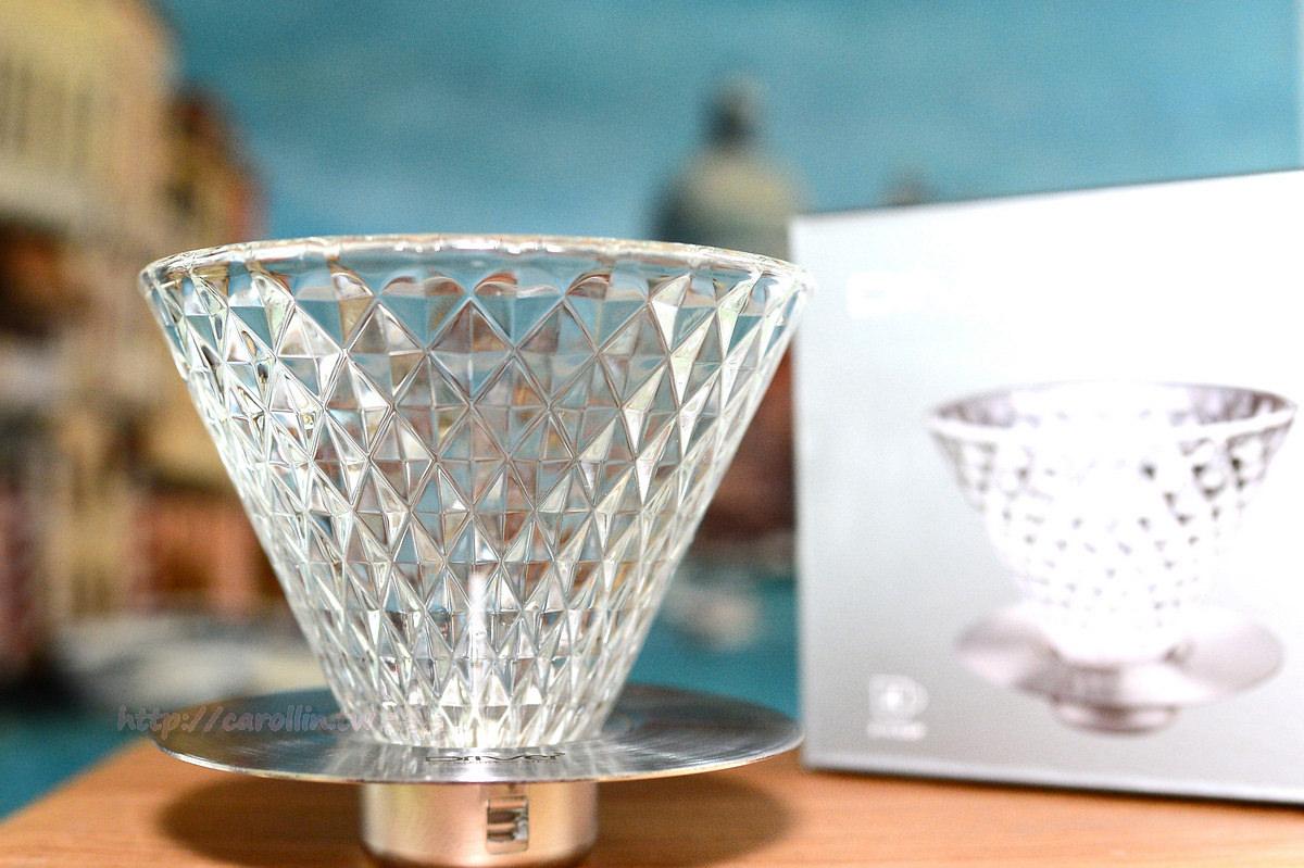 【開箱】手沖咖啡器具《Driver 鑽石濾杯》玻璃版 Key Coffee Crystal