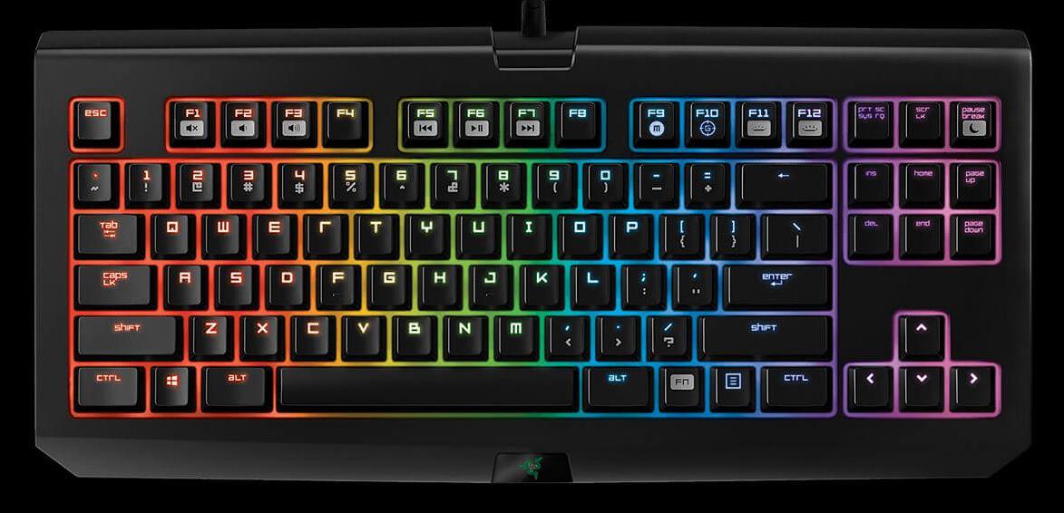 3C產品開箱   電競周邊 Razer Blackwidow X Chroma 雷蛇87機械鍵盤 黑寡婦競技幻彩