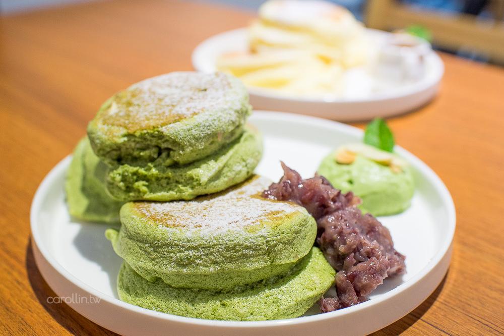 台北 中山區美食   KOO Gelato 三角三圓 – 療癒系鬆軟甜點 小山園抹茶舒芙蕾鬆餅