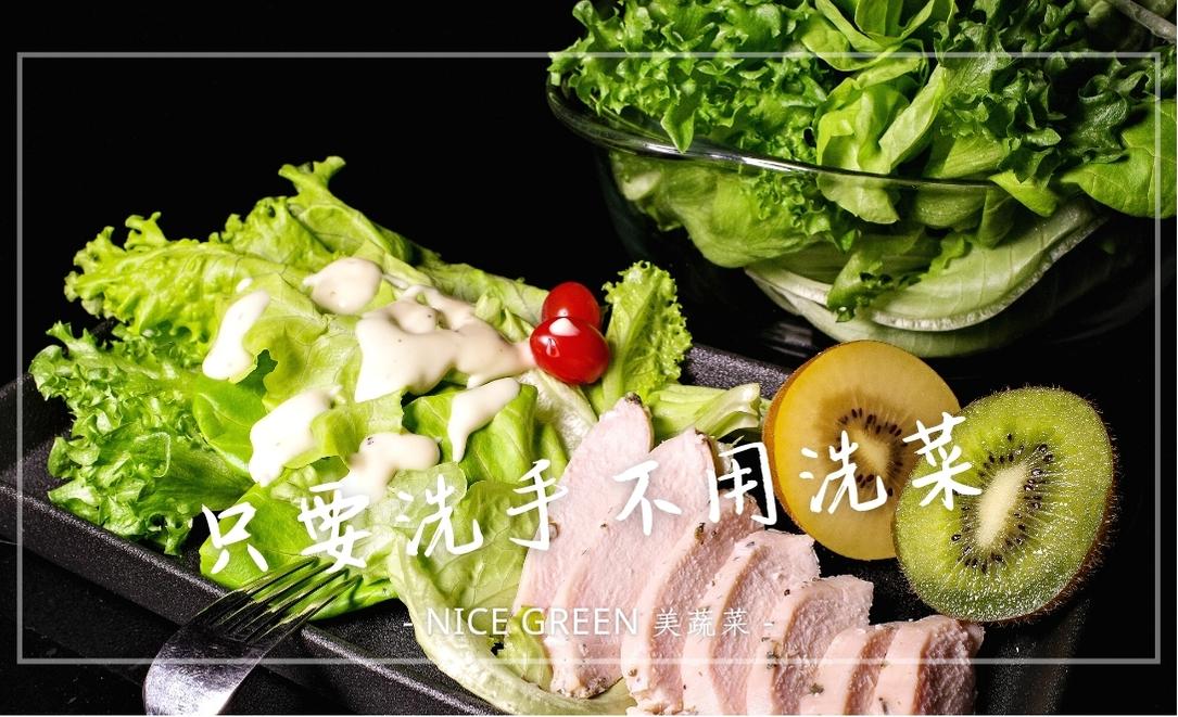 Nice Green 美蔬菜 | 宅配生菜推薦,無塵室種的菜,只要洗手不用洗菜!!