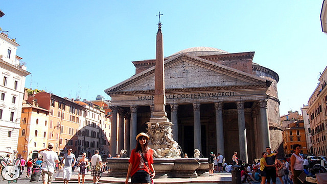 【遊記】羅馬。《萬神殿 Pantheon》天使的設計